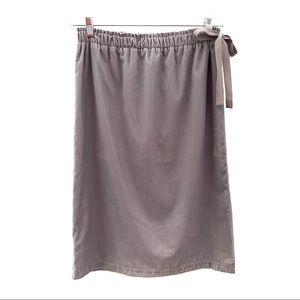 NWT LOFT velvet midi skirt with paper bag waist, S